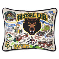 Baylor University Embroidered Pillow