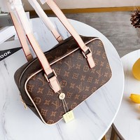 Louis vuitton LV new hot-selling printed square women's casual duffel bag