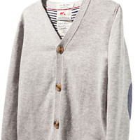 oxford cardigan with elbow patches - Cardigans and sweaters - Baby boy - Kids - ZARA United States