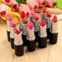 Women Sexy 12 Colors Moisture Charming Matte Lipstick Set (Color: Multicolor) [7956079175]