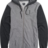 RVCA VERTICAL ZIP UP FLEECE