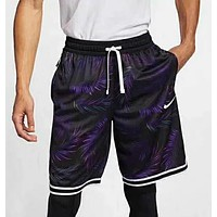 NIKE Summer Newest Men Casual Print Sports Running Shorts Purple