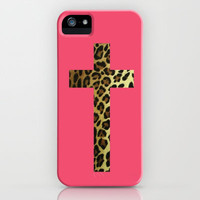 Cheetah Cross iPhone & iPod Case by AliciaMarie