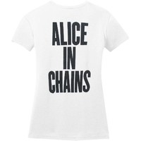 Alice In Chains  If I Would Junior Top White