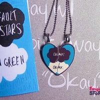 The Fault in our Stars by John Green Necklace set for Two
