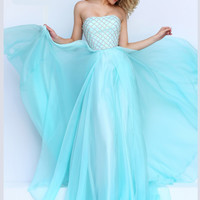 Embellished Bodice Sherri Hill Formal Prom Gown 50039