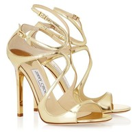 Gold Metallic Leather Sandals | Strappy Sandals | Lance | JIMMY CHOO Shoes
