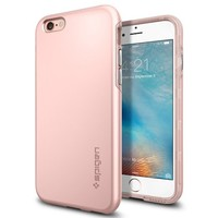iPhone 6s Case, Spigen® [Thin Fit Hybrid] Thin Protection [Rose Gold] Rugged Dual Layer Premium Matte Finish Hybrid Hard Case for iPhone 6 / 6s - Rose Gold (SGP11781)