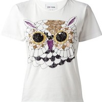 Jimi Roos Embroidered Owl T-shirt - Societe Anonyme - Farfetch.com