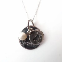Cat Lover Personalized Hand Stamped Necklace