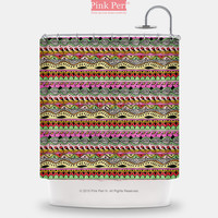 Bright Colorful Pattern Hippie Chick Shower Curtain Home & Living Bathroom 199