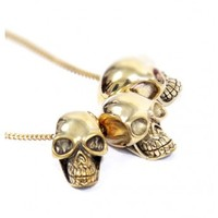 3Skulls Necklace  by Youreyeslie.com Online store> Shop the collection