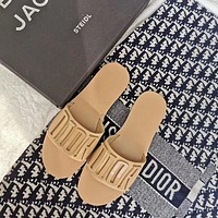 Dior letter slippers