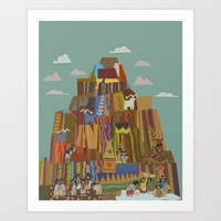 Native Mural in a Famous Hotel Art Print by studiomarshallarts