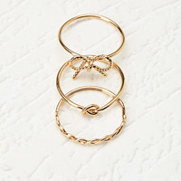 Bow and Knot Ring Set