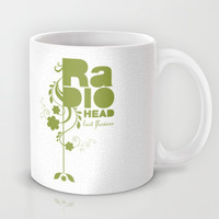 "Radiohead ""Last flowers"" Song / Green version Mug by LilaVert"