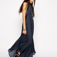 Free People Caught In The Moment Maxi Dress with Harness Back