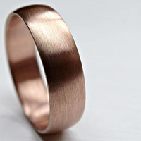 rose gold wedding band mens, pink gold ring domed, white gold wedding band, mens wedding ring gold, bride groom band gold promise ring