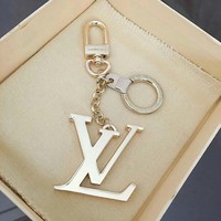 LV Glossy key chain Louis Vitton fashion logo buckle classic car key Ring