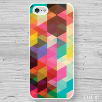 Abstract Geometric iPhone 5 Case - colourful colorful triangle pattern - Phone Cover iphone5 - 1007