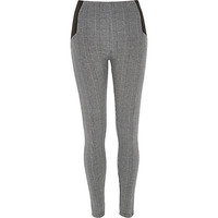 River Island Womens Black dogstooth leggings