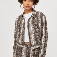 Snake Print Denim Jacket