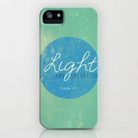 Ps 27:1 Light and Salvation iPhone & iPod Case by Pocket Fuel