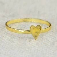 Tiny Gold Silver Heart Ring
