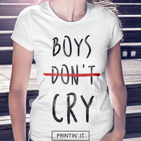 Boys Don't Cry  - The Cure - 80's indie music tshirt - Robert Smith - Womens t-shirt - Tumblr shirt - funny t-shirt .