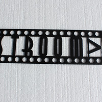 Restroom Sign Home Theater Decor Metal Wall Art