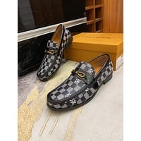 Louis Vuitton LV men's Casual Running Sport Shoes Sneakers Leather Shoes 0711