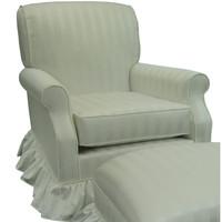 Angel Song 201021160Foam Elegance White Adult Club Glider Rocker