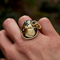 Cameo Costume Gold Filled Wire Ring