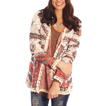 free oasis cardigan - red