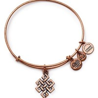 Alex and Ani Endless Knot Rose Gold Tone Wire Bangle - 100% Bloomingdale's Exclusive