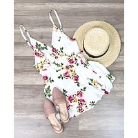Final Sale - Cotton Candy Floral Romper - More Colors