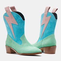 BOLT WESTERN MINT/TURQ/PINK SUEDE