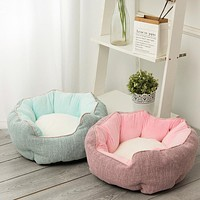 Cat Litter Winter Warm Cat Bed Kennel Removable And Washable Pet Cotton Litter Plush Thickened Pet Litter Pad