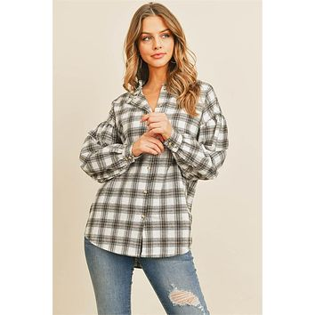 Play It Cool Plaid Top