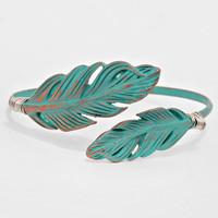 Feather Trimmed Cuff Bracelet