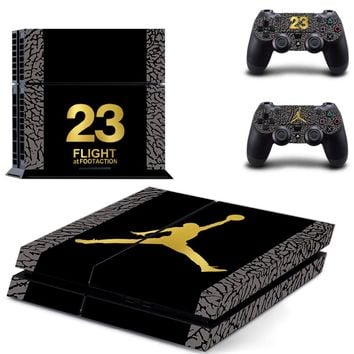 Basketball NO.23 for PS4 Skin Sticker For Sony Playstation 4 PS4 Console protection film and Cover Decals Of 2 Controller
