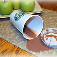 Fake Spilled 16 oz. OL Cup of Coffee With Cream Grande Fun Prop Gag