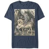 Adventure Time Lithograph Blue T-Shirt | WearYourBeer.com