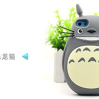 3D Cute My Neighbor Totoro Silicone Back Case Cover For iPhone 4 4S 5 5S 6 Plus