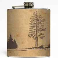 Rustic Landscape - Outdoors Flask