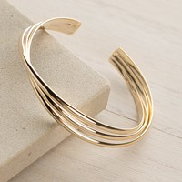 Wave of Good Luck Cuff in Gold – Dress Up