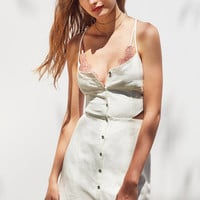 Dolce Vita Bee Strappy Button-Front Mini Dress | Urban Outfitters
