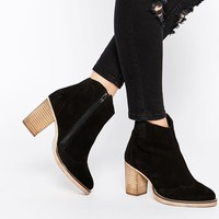 ASOS EACH AND EVERYONE Wide Fit Leather Ankle Boots