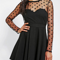 Urban Outfitters - Coincidence & Chance Polka Dot Mesh Dress
