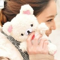 CLEWGEAR Cute 3D Teddy Bear Doll Toy Plush Case Cover For iphone 5G 5S 5C + Free CLEWGEAR Touch Pen
